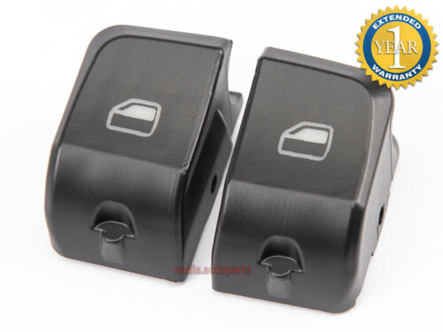 2x SWITCH BUTTON WINDOW COVER FOR AUDI A4 A5 Q5 DRIVER SIDE