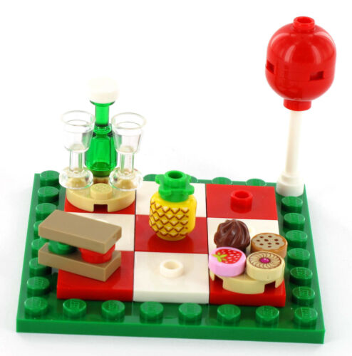 Pineapple drink and Balloon cakes Lego Picnic Blanket Sandwich scones