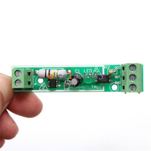 1-Bit AC 220V Optocoupler Isolation Module Voltage Detect Board Adaptive for PLC