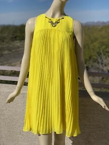 Ted-Baker-Arleen-Embellished-Dress-in-Yellow-Size-4-US12