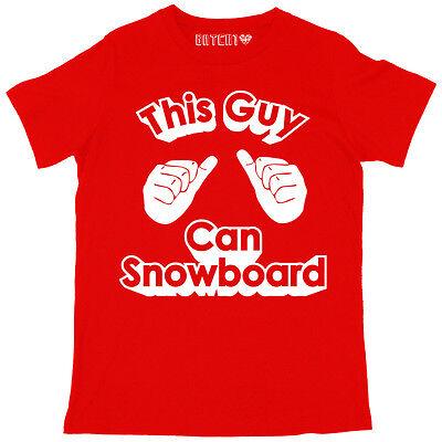 THIS GUY CAN SKI MENS WINTER SKI SNOWBOARD SEASON SLOGAN PRINTED HOODIE
