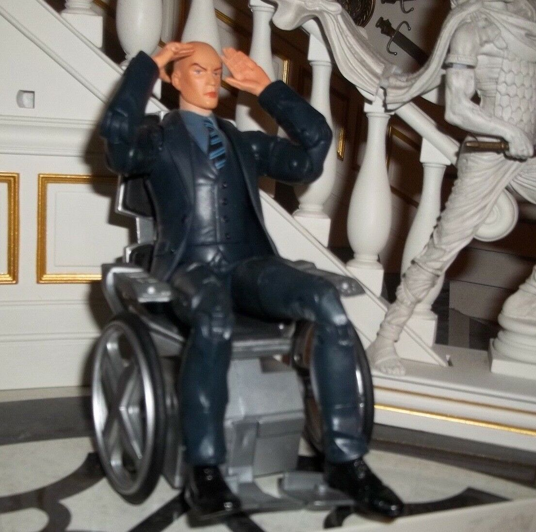 MARVEL LEGENDS GALACTUS BAF SERIES PROFESSOR X CHARLES XAVIER FIGURE TOY BIZ