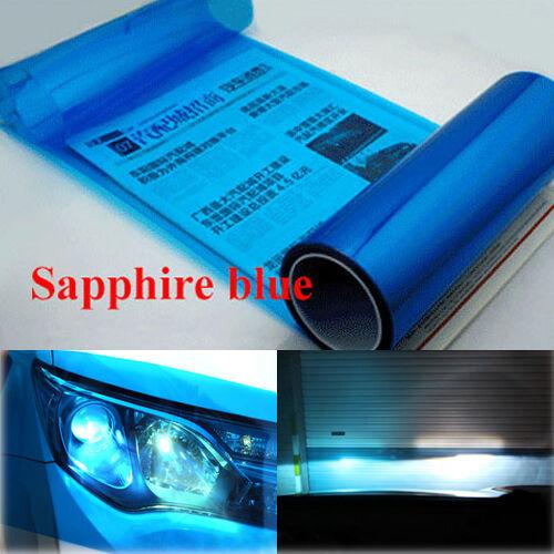 30 x 120cm Sapphire Blue Car Vinyl Headlight Film Tail Light Fog Lamp Tint Sheet
