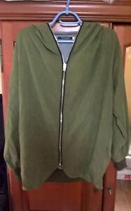 Blouson-avec-capuche-Oxeya-vert-XL-Green-jacket-with-hood