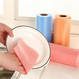 Image Is Loading 2rolls Disposable Non Woven Fabric Kitchen Cleaning Cloth