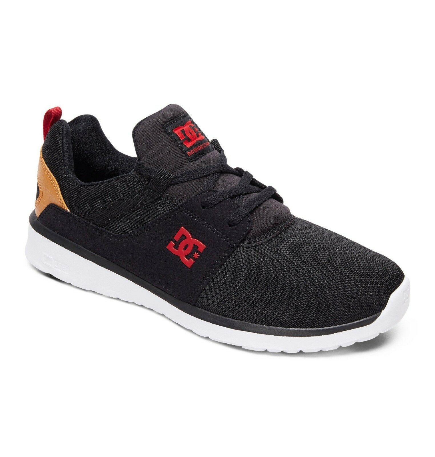 DC SHoeS Baskets Noir homme. Heathrow Ortholite Noir Baskets Athlétique Chaussures De Skate 8 W 71 BC1 b52f0d