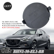 1 Pair Front Bumper Tow Hook Eye Triangle Hole Cover Cap New Fit for Mazda 3 Axela 2014-2017