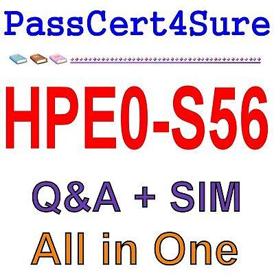 Test Simulator Building HPE Hybrid IT Solutions HPE0-S56 Exam Dump PDF Q/&A