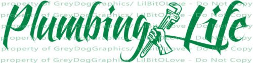 Plumbing Life Vinyl 22.5 x 5.6 Decal Plumber Sticker Trade for Car Auto Vehicle