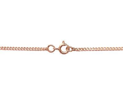 18k Rose Gold Vermeil (1.75mm Gauge) Sterling Silver Chain Made In England HöChste Bequemlichkeit
