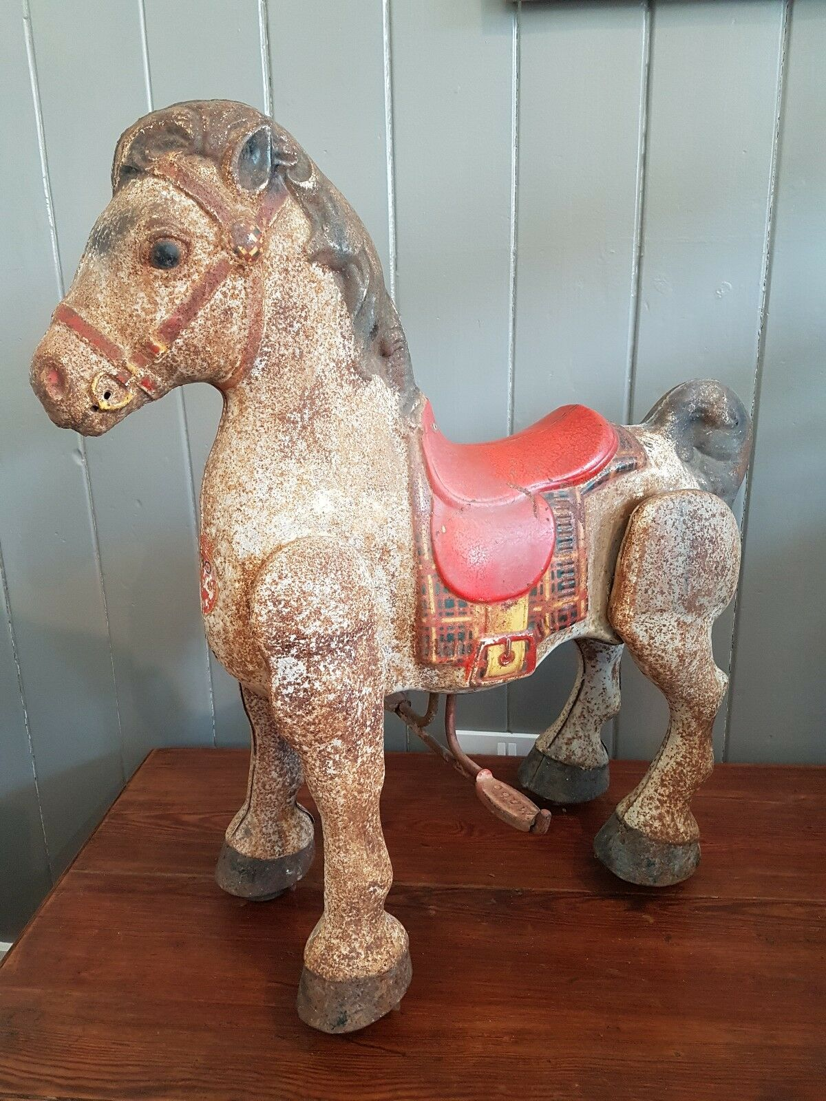 Mobo horse 1950's metal, toy. great shop display