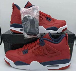 Nike-Air-Jordan-4-Retro-FIBA-Gym-Fire-Red-Obsidian-OG-Sku-408452-617-Size-GS-7Y