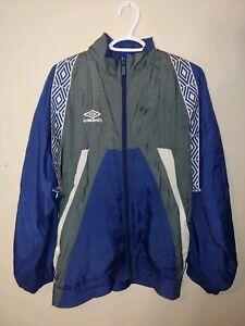 vtg Umbro blue running jacket 90s Men retro top vintage man 90s Size Men L