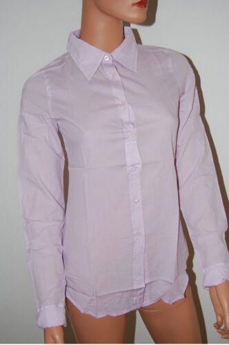 XS SR188 Herrlicher Blaustoff Valentina Damen Hemd Langarm Bluse Longshirt Gr