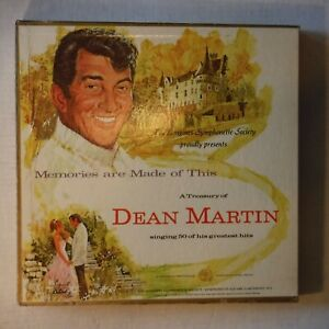 "A TREASURY OF DEAN MARTIN - 5 DISC BOX SET OF 12"" 33 RPM LPs-W/BOOKLET & INSERTS"