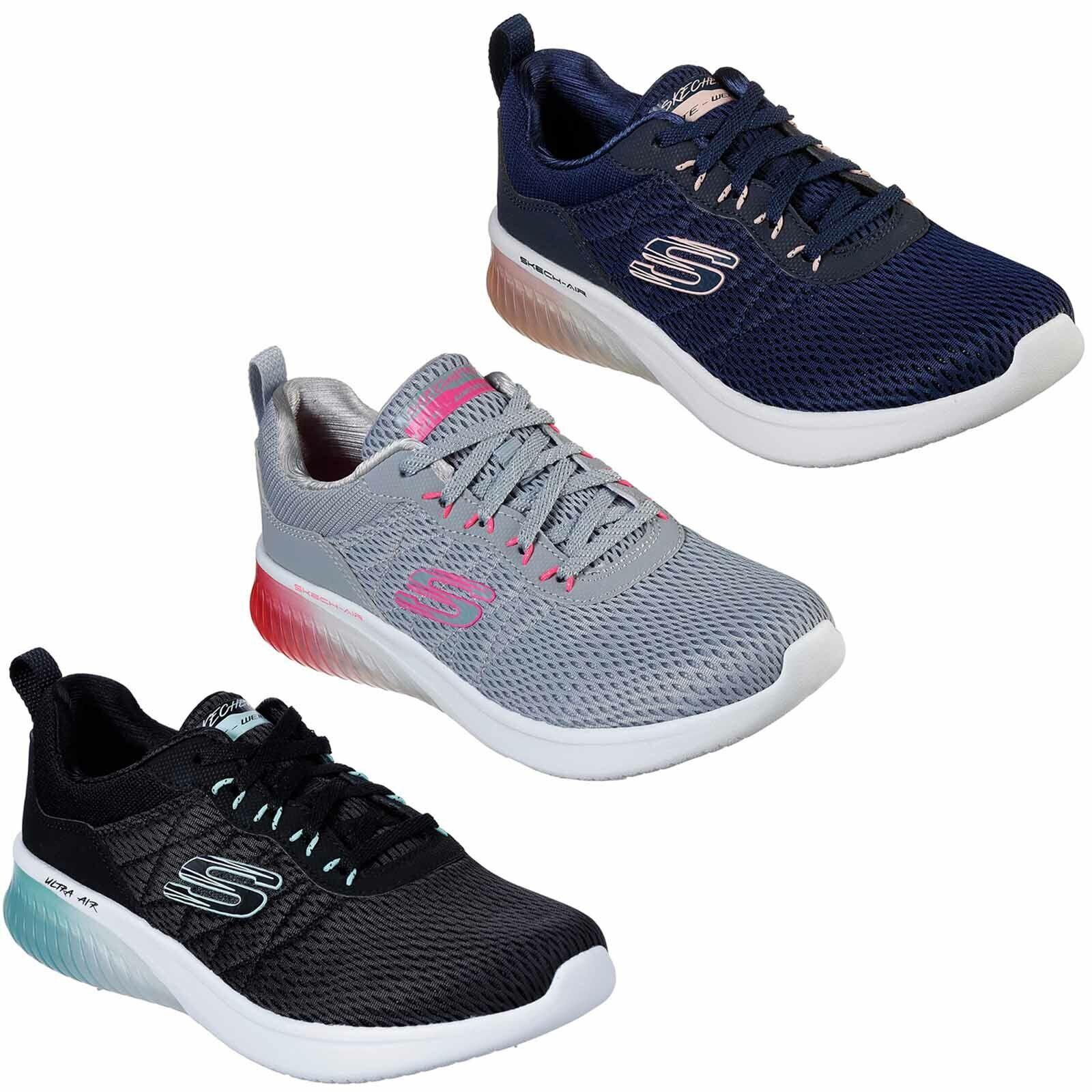 Skechers Skech-Air Ultra Flex Turnschuhe Gepolstert Sportlich Netz Damen Schuhe