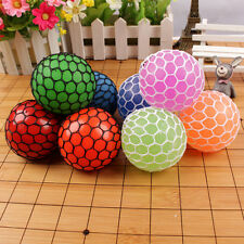 1pc Anti Stress Reliever Mesh Grape Ball Autism Mood Squeeze Relief Toys Random