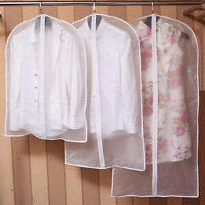 Home-Dress-Coat-Clothes-Jacket-Suit-Cover-Bag-Dustproof-Hanger-Storage-Solid-New
