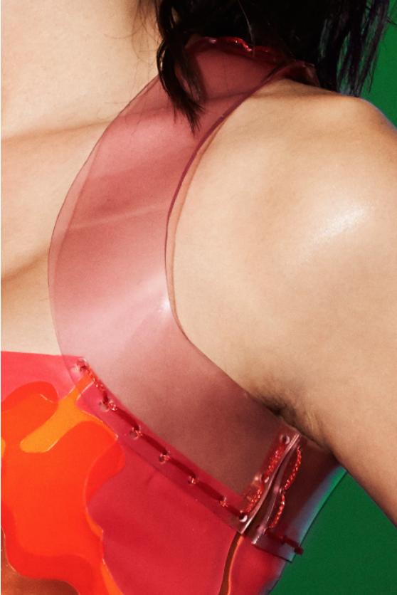 Charlie's Látex Camuflaje Top/a Top/a Camuflaje Medida Látex/Rojo/Rosa/Naranja/cobre metálico 3db050