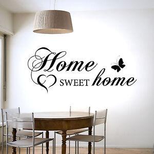home sweet home wall sticker vinyl decal transfer home decor ebay. Black Bedroom Furniture Sets. Home Design Ideas