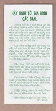 Vietnam Era Propaganda Leaflet: SP-1046 - Think of Your Family
