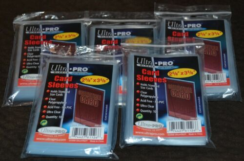 500 Ultra Pro Series Card Sleeves 5 Packages of Protectors Cases Protective NEW