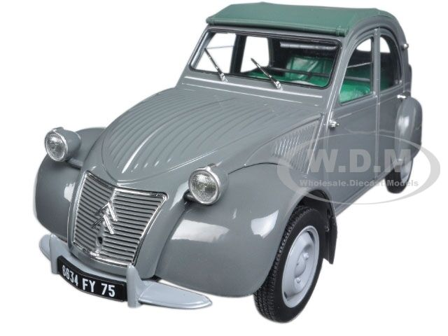 1957 CITROEN 2CV AZL MALLE BOMBEE gris 1 18 DIECAST CAR MODEL BY NOREV 181499