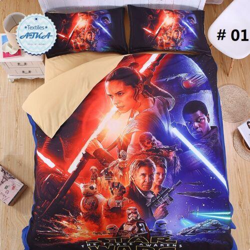 Star Wars 3D Bedding Set Print Duvet cover shooting star Twin queen king Beautif