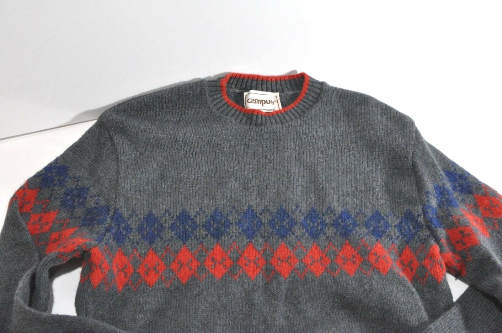 Vintage Campus wool sweater  Herren Large made in USA