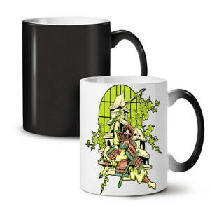 Japan Warrior Art NEW Colour Changing Tea Coffee Mug 11 oz   Wellcoda