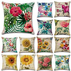 45x45cm-Funda-De-Almohada-Cama-planta-floral-cintura-Cobertor-Sofa-Coche-Funda-De-Cojin-Decoracion