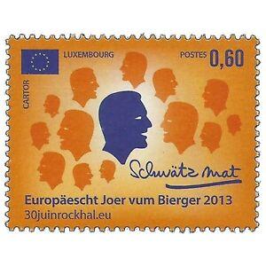 Luxembourg-2013-European-Year-Of-Citizens-Politics-Sc-1348-MNH