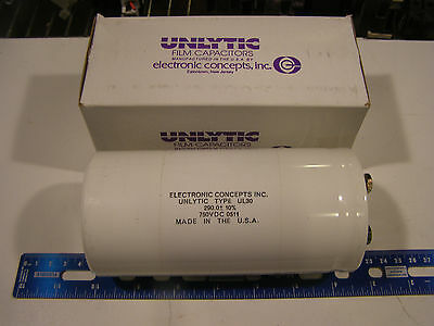 1 Electronic Concepts UL30BJ0075 Unlytic Type UL30 75uF 900VDC Film Capacitor