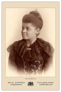 IDA-B-WELLS-Journalist-Educator-Vintage-Photograph-Cabinet-Card-CDV-RP