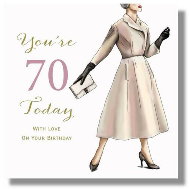 Happy 70th Birthday Card For A Woman By Mary Kirkham Sale Online