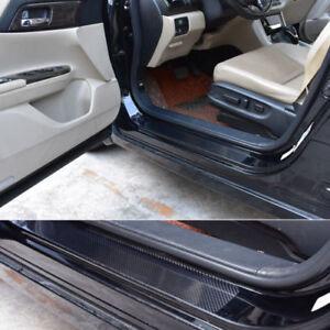 4x Accessories Protect Panel 5D Carbon Fiber Car Scuff Plate Door Sill  Sticker