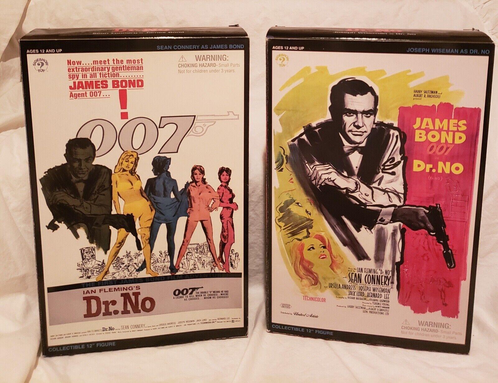 SIDESHOW DR. NO  JAMES BOND AGENT 007 &  DR. NO SET OF 2 12  FIGURES...BOTH NEW