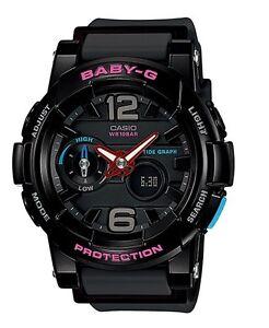 Casio Baby-G * BGA180-1B Anadigi GLide Black Gloss & Matte COD PayPal
