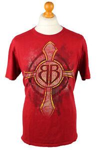 Vintage-Crucifix-Unisex-T-Shirt-Shirt-Tee-Crew-Neck-Jeremiah-20-11-L-Red-TS670