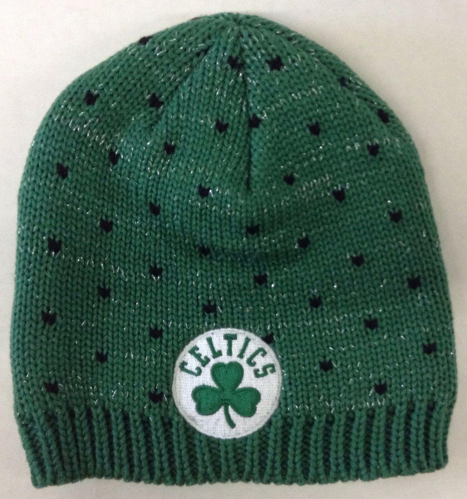 Gorra tejida de invierno para mujer Adidas de NBA Boston Celtics Beanie Style # KU68W ¡NUEVO!