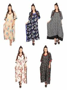 239ff0af640 Image is loading Miss-Lavish-Kaftan-Tunic-Maxi-Dress-Sleepwear-Plus-