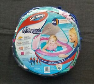 Swimways Baby Spring Float Canopy Boat 9-24 Months Solid
