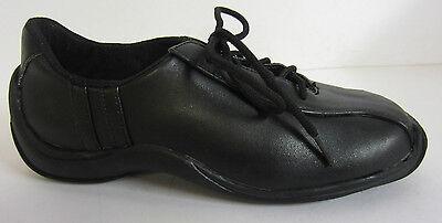 Tc-1007 - Niñas Shelly' Black Lace Up Zapato! * Regreso A Clases! * sólo £ 5.00!