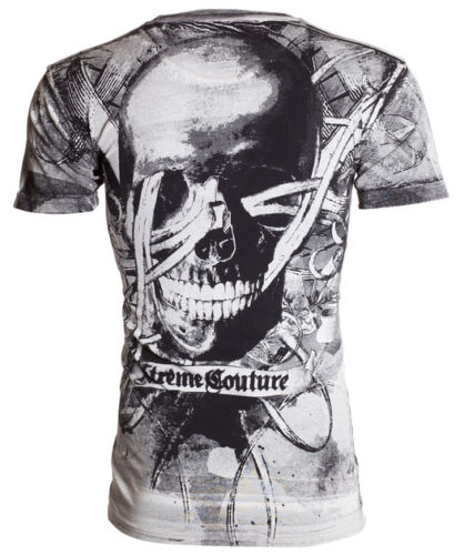Xtreme Couture AFFLICTION Mens T-Shirt CROSSED OUT Skull Biker MMA UFC M-4XL $40