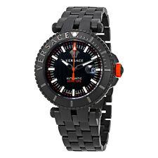 Versace V-Race Diver Automatic Black Dial Mens Watch VAL01 0016