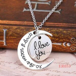 A-Charm-Family-Gift-Personal-I-LOVE-YOU-TO-THE-MOON-AND-BACK-Pendant-Necklace