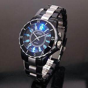 OHSEN-Black-7-Mode-Light-Quartz-Run-Sport-wimming-Dress-Military-Army-Watch