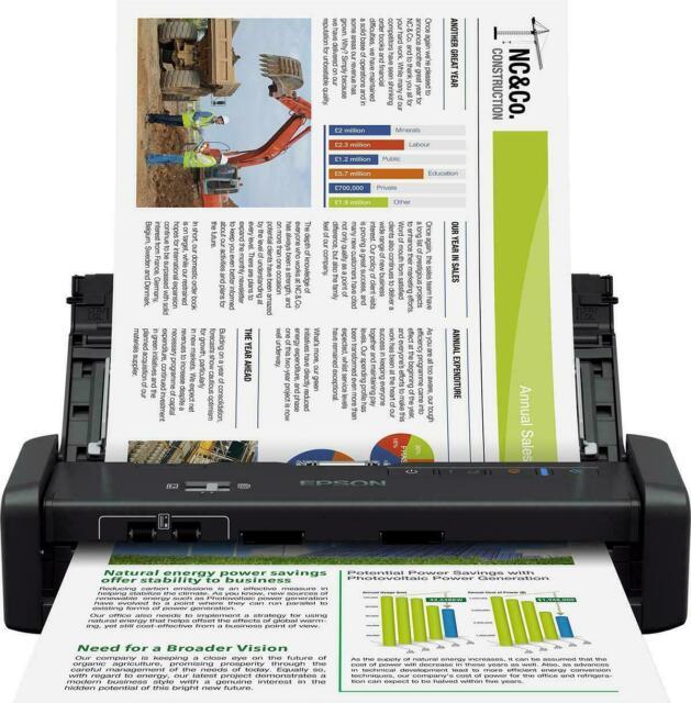 EPSON B11B242401 WORKFORCE DS-360W SCANNER PORTATILE WIFI, 50PPM,USB 3.0