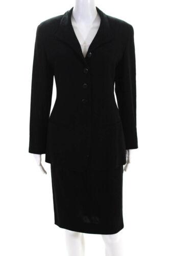 Donna Karan  Womens Button Down Blazer Skirt Suit