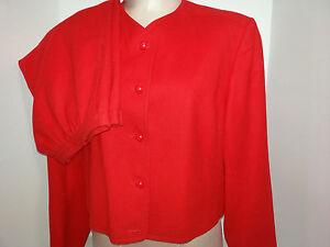 Vtg-PENDLETON-Womens-2-Piece-Skirt-Suit-Blazer-Jacket-Size-14-16-Large-Red-Wool